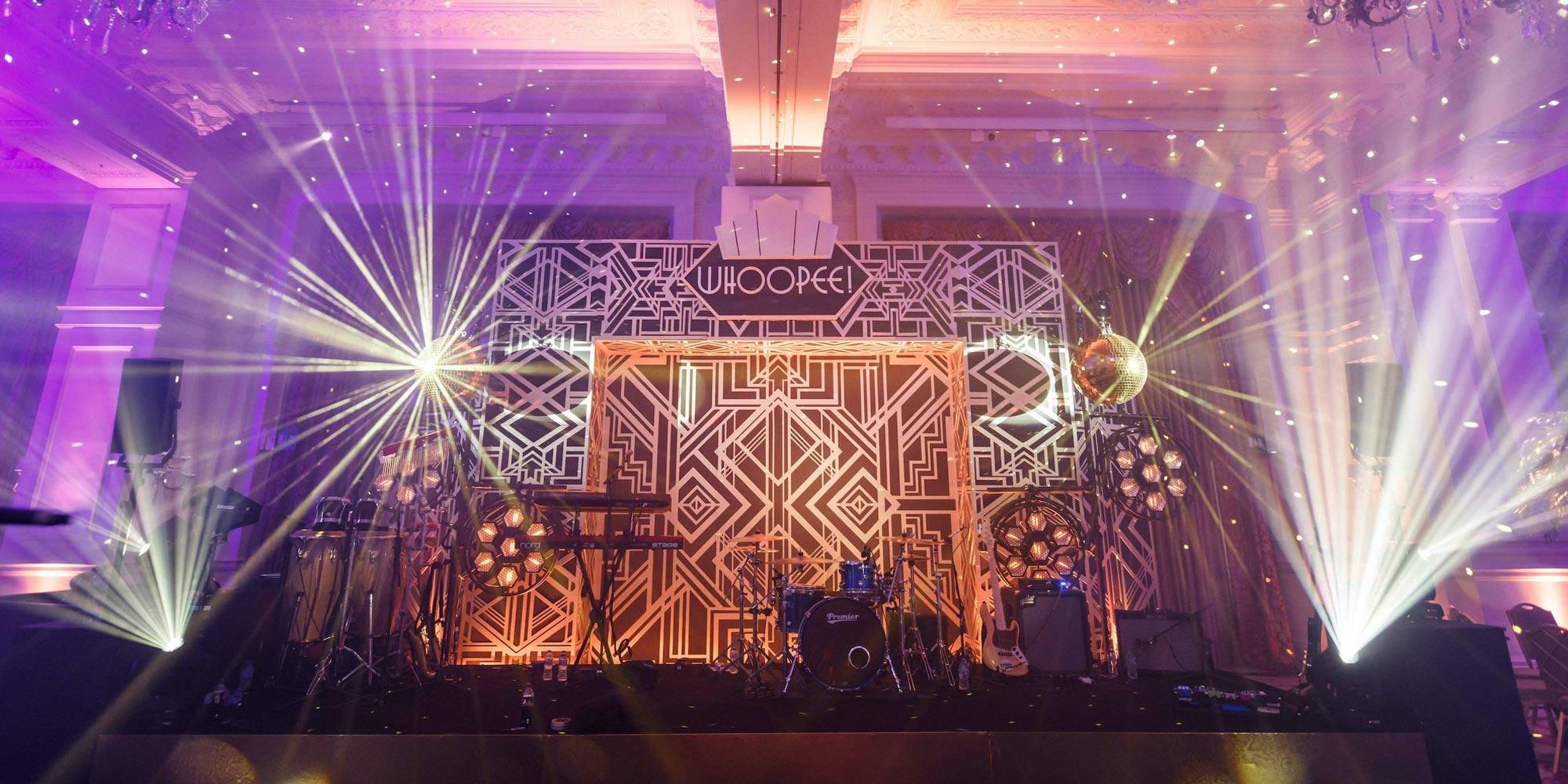 Wedding stage lighting sound system dance floor